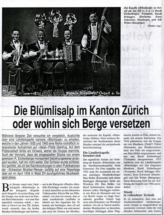 Ländlerkapelle Zoge-n-am Boge Ländlerkapelle «Zoge-n-am Boge» Ländlerkapelle «Zoge-n-am Boge»